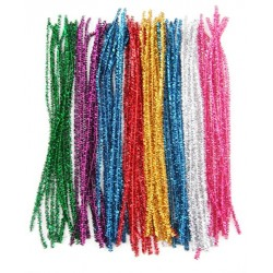Glitter Tinsel Pipe Cleaners Assorted Colours 20 pcs