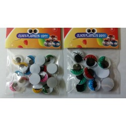 Googly Eyes Colored 10 mm 10 pcs