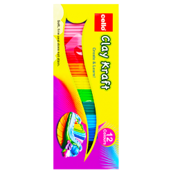 Clay Kraft 12 Colours Strips - 100 g