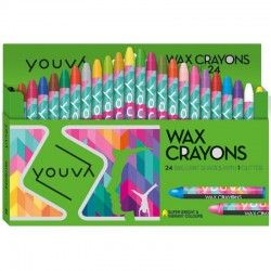 Crayons 1 Pack with  24 Shades Assorted Shades
