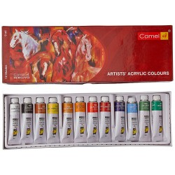 Acrylic Colour Box 9ml Tubes 1 Pack with 12 Shades