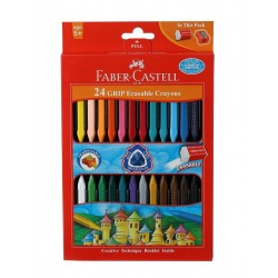 Crayons Grip Erasable 1 Pack with  24 Assorted Shades