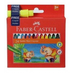 Jumbo Crayons 1 Pack with  24 Assorted Shades (Free Crayon Holder)