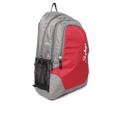 Unisex red & grey backpack
