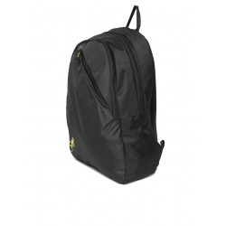 Unisex black solid backpack