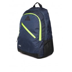 Unisex navy blue solid backpack