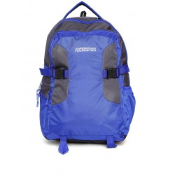 Unisex blue & grey laptop backpack