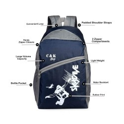 School Backpack 30 LTR Blue Polyster