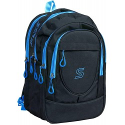 School Backpack 30 Liters Black Polyester