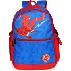 School Backpack 19 inch Red & Blue Nylon