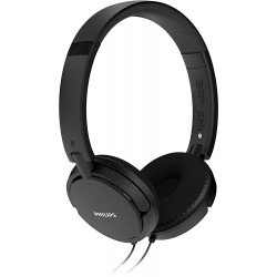 On ear headphone with deep bass (Black)