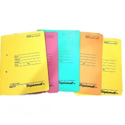 Paper cobra files with spring inside Pack of  20 Multicolour