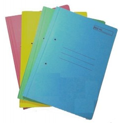 Normal board spring file Pack of 12 Multicolour