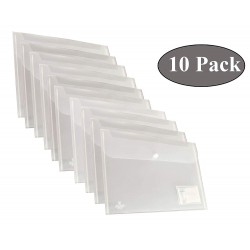 A4 Document file bag Clear plastic Pack of 10