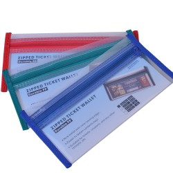 Small envelope with zip bag (Blue, Red and Green) Set of 3