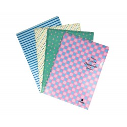 Small plastic printed documents file pouch Set of 4