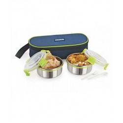 Lunchbox Stainless Steel With Case Set of 2 Green
