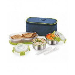 Lunchbox Stainless Steel With Case Set of 3 Green