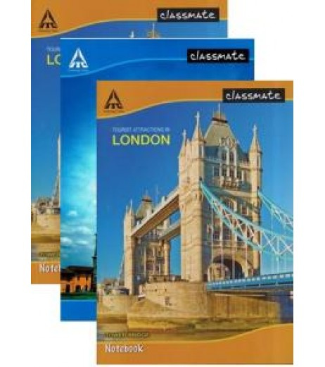 A4 380 pages  soft Cover Pack of 3 Single line Ruled