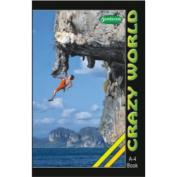Crazy World  A4 172 pages Ruled Soft Cover pack of 12