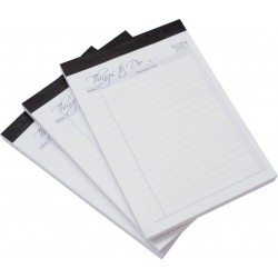 Note pad Regular Ruled 200 pages Pack of 3  Adhesive bound