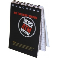 """Note pad 3"""" x 4""""size Ruled 100 pages Spiral bound"""