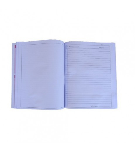 Practical book size 26.5 X 21.5cms