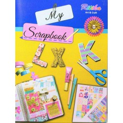 Scrapbook  A4 size 140 gsm 32 sheets One side ruled One side plain