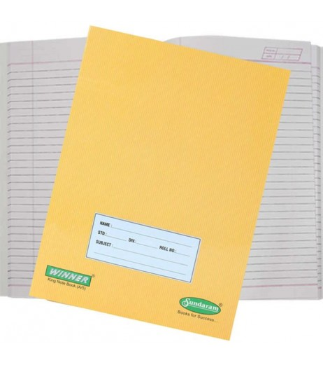 Brown Notebook 18 X 24 cms Single Line 172 pages Pack of 6