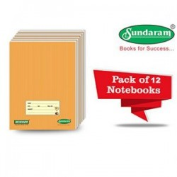Sundaram Winner Brown Note Book Medium Square 76 Pages -
