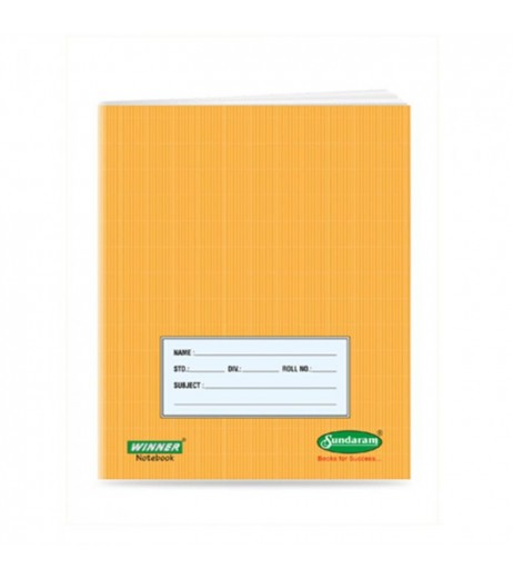 Brown Note book 18 X 24 cms FourLine 172 pages  1 Unit