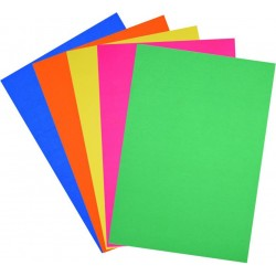 Craftpaper A4  80 gsm 100 sheets Plain Multicolour