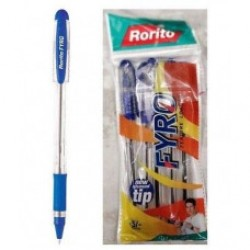 Ball pen Rorito Fyro Blue pack of 5