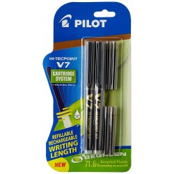 Ball pen  V7 Hi-tecpoint 0.7mm  Black Pack of 2