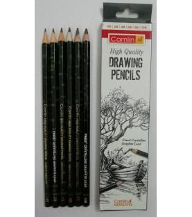 Camlin High Quality Drawing Pencils Set of HB 2B 3B 4B 6B 8B 6 Units