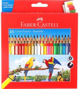 Faber-Castell 48 Triangular Colour Pencils