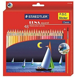 Staedtler Luna Aquarell Watercolor Pencil Pack of 48 Shades