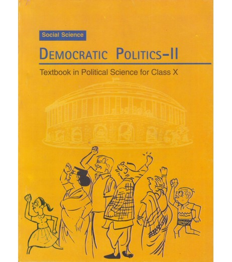 Democratic Politics II english Book for class 10 Published by NCERT of UPMSP
