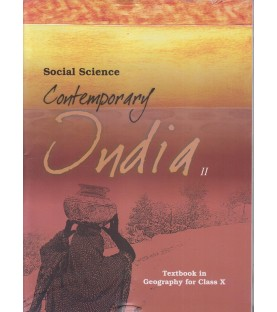 Contempropry India - Geogrophy english book for class 10Published by NCERT of UPMSP