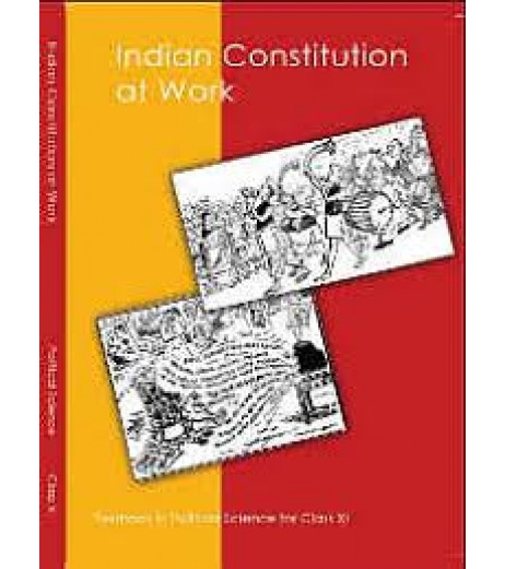 Indian Constitution at Work English Book for class 11 Published by NCERT of UPMSP