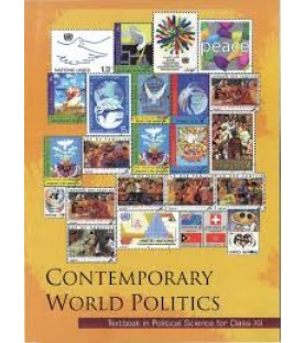 Contemporary World Politics english Book for class 12 Published by NCERT of UPMSP