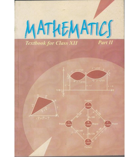 Mathematics Part II English Book for class 12 Published by NCERT of UPMSP