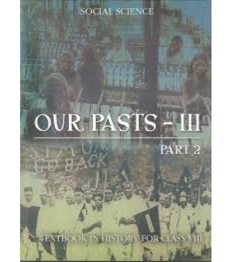 Our Past 3 Part 1 History English Book for class 8 Published by NCERT of UPMSP