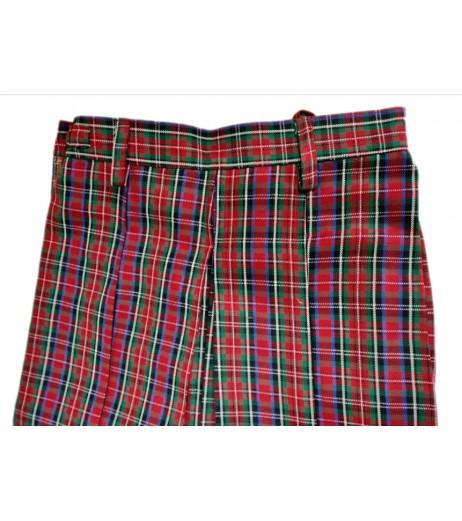 DAV School Uniform Multicolored Skirt for Girls