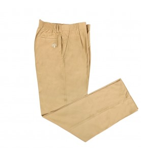 Podar School Uniform Full Pant for Boys (Beige)