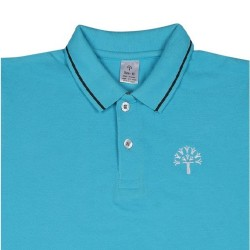 Podar School Uniform Aqua Blue P.T.Polo T-Shirt for Boys