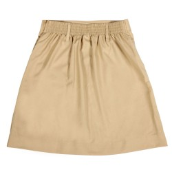 Podar School Uniform Beige Skirt for Girls