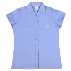 Podar School Uniform Short Sleeve Shirt for Girls