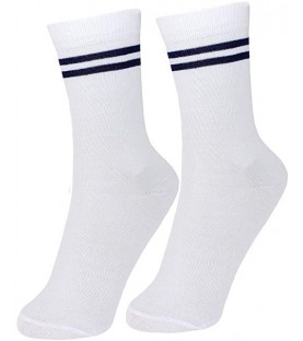 Presentation Convent Nerul School Uniform White Socks for (Boys & Girls)