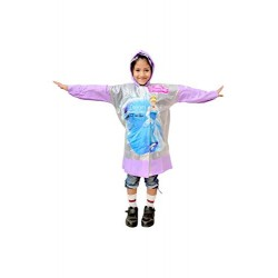 Sikander Girl Disney Princes Print PVC Raincoat with School